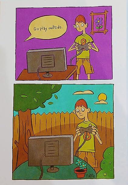Go Play Exterior Divertido Humor Feliz Cumpleanos Tarjeta De