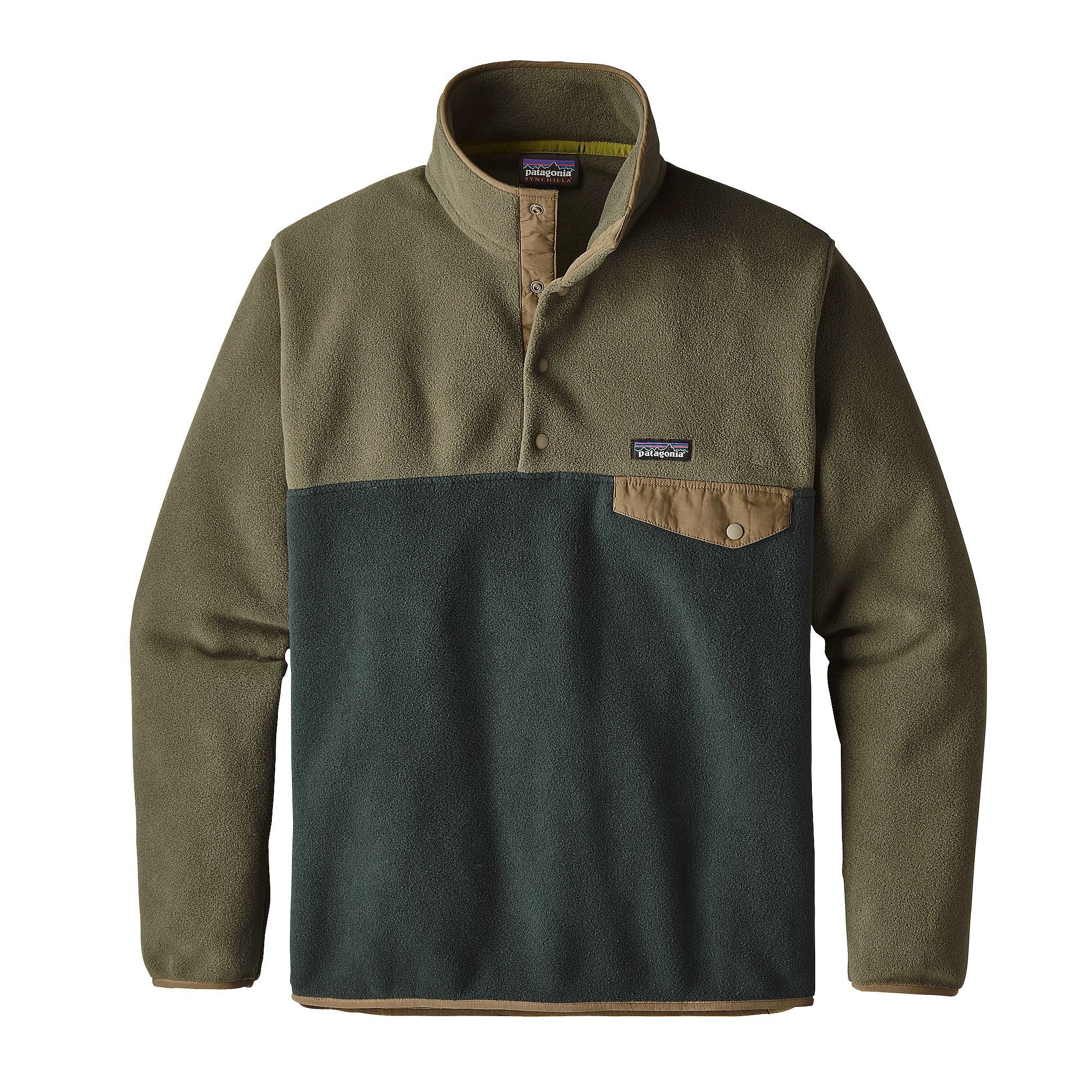 Patagonia Mens LW Synch Snap-T P/O, Industrial Green, S
