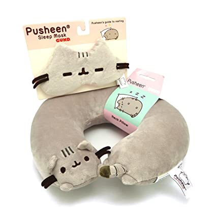Amazon.com: pusheen cuello almohada Bundle con antifaz: Toys ...