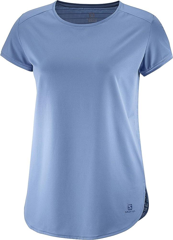 SALOMON Comet Breeze W Camiseta de Manga Corta, Mujer, Azul (Copen Blue), m: Amazon.es: Deportes y aire libre