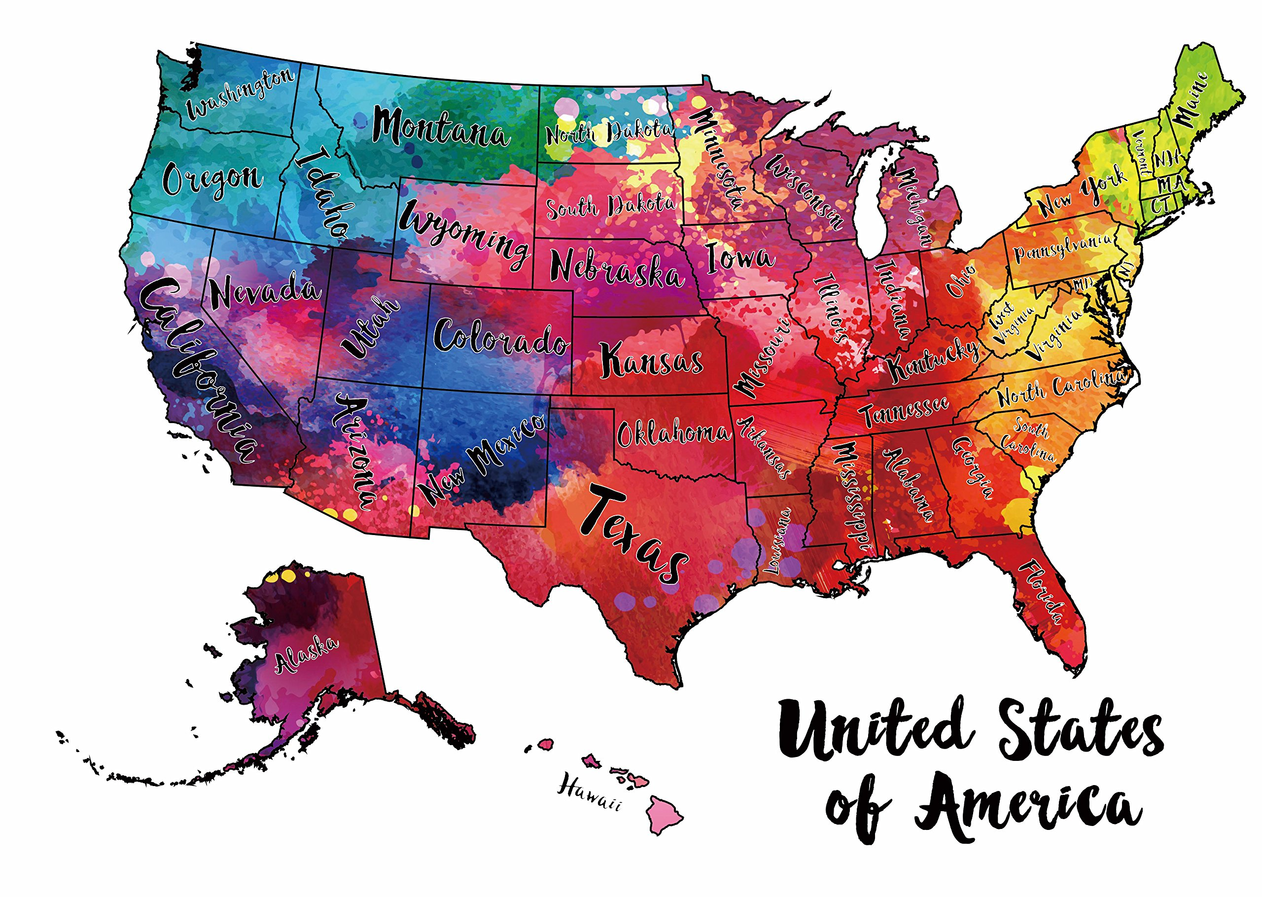 Scratch Off Map USA - Scratch The Silver Foil Of The United States ...
