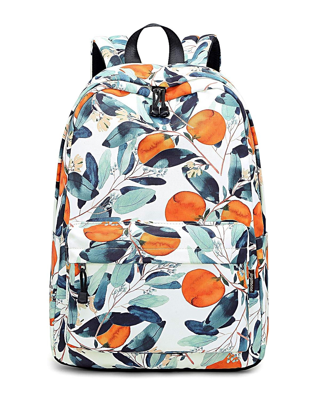 4ee9199a4009 Acmebon Waterproof Women Backpack Purse Floral Print Cute School Backpack  for Girl (Fruit Tree)