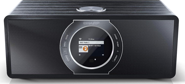Sharp DR-I470(BK) Radio Internet Digital Estéreo con Dab/Dab+/Fm, Bluetooth V2.1+ Edr, Función despertador y de Repetición de Alarma, Negro