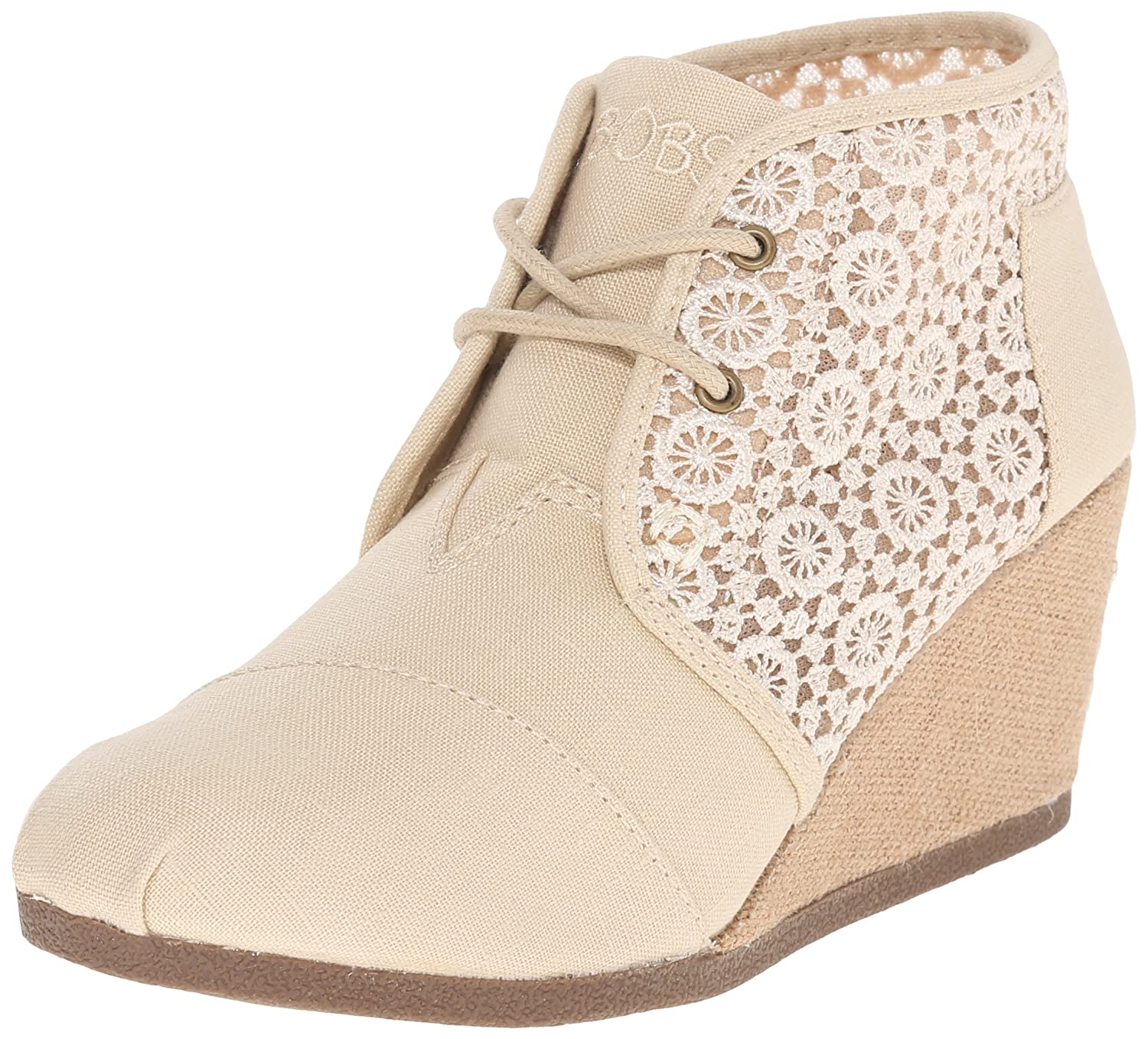 Skechers BOBS from Women's High Notes Wedge Boot B016R97N3O 7.5 B(M) US|Natural Woven