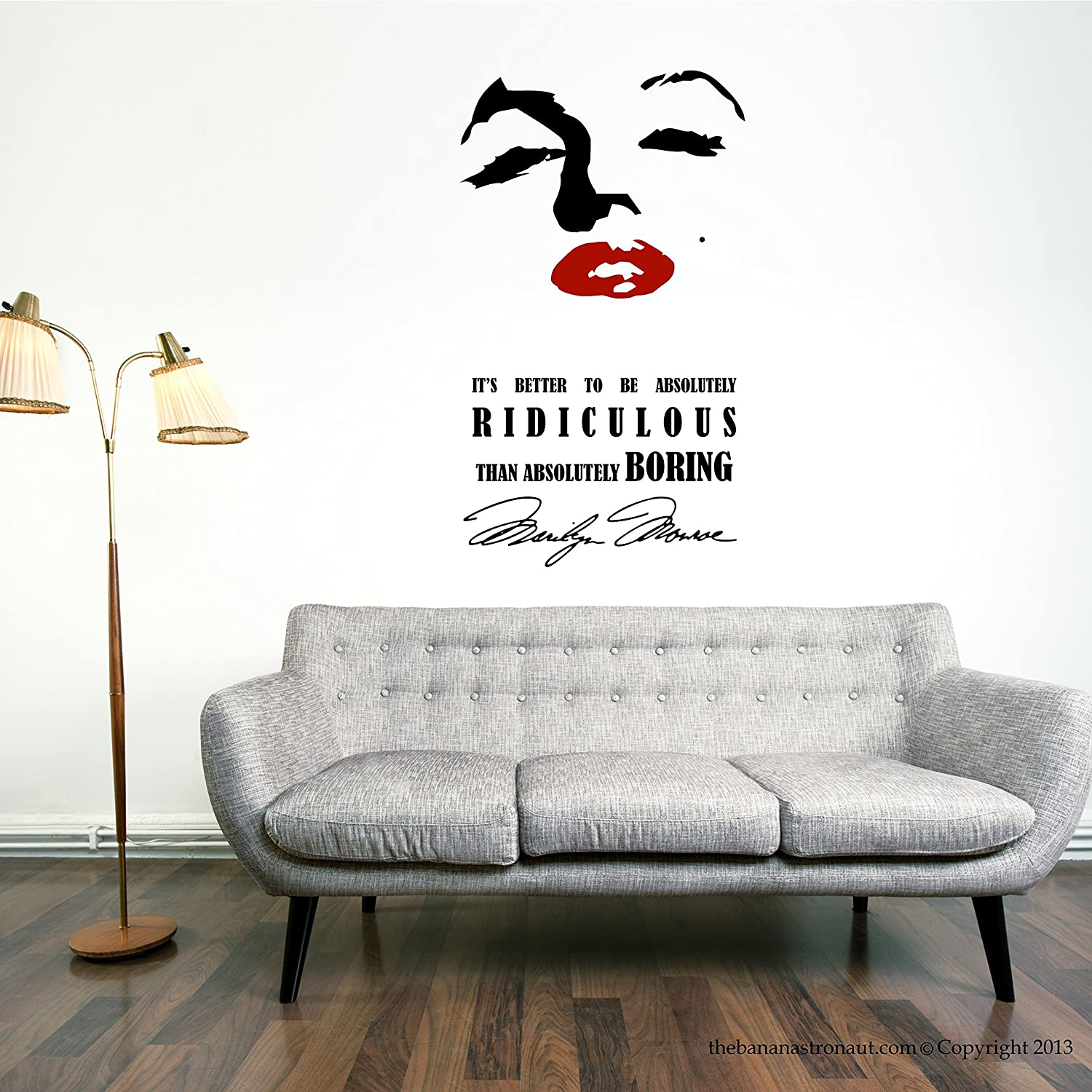 Amazon Marilyn Monroe Wall Decal Stickers Eye and Lip Decor