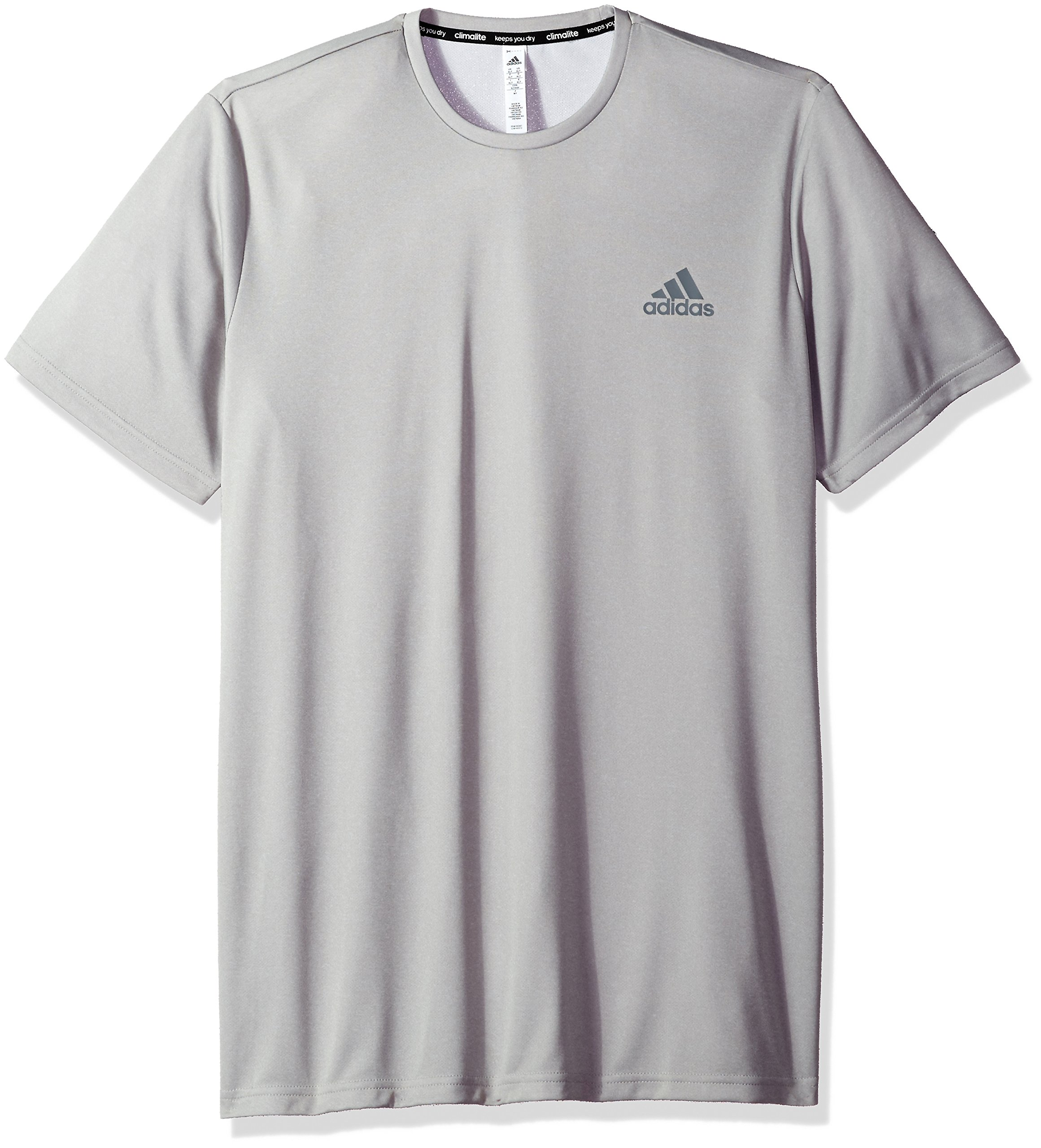 adidas Men's Essentials Tech Big & Tall Tee, Medium Grey Heather, 3X-Large Tall