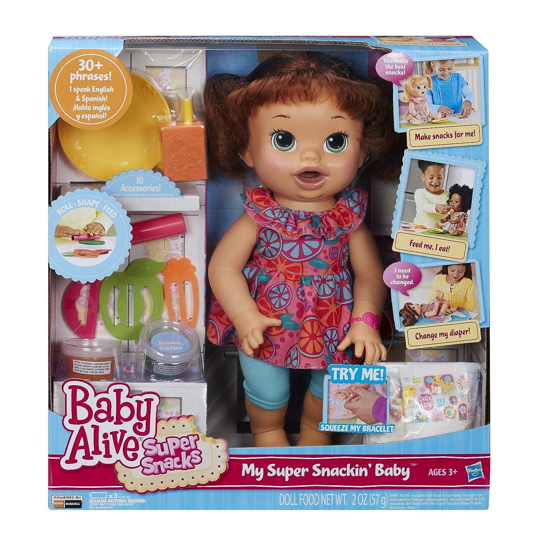 Baby Alive Super Snacks Snackin Sara Brunette Doll Ebay