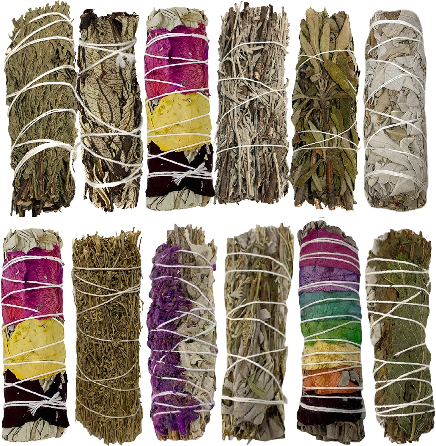 Sage Smudge Kit - Sage Incense Sticks for Cleansing - White Sage Smudge Sticks - Smudging Kit Sage Bundles to Cleanse Home - Sage Sticks Cleansing and Healing - Sage for Cleansing Negative Energy