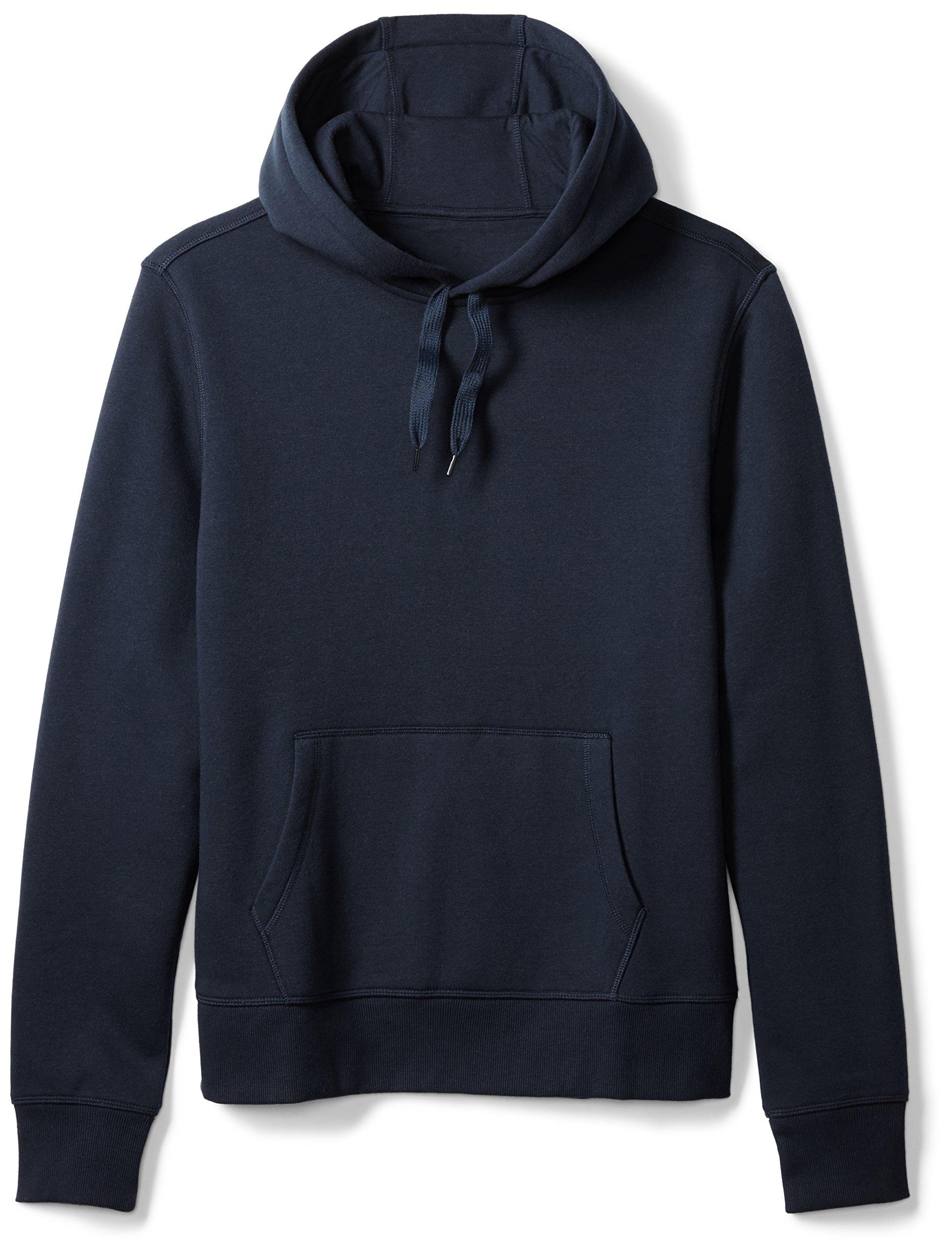 Amazon Essentials Men's Hooded Fleece Sweatshirt, Navy, Medium