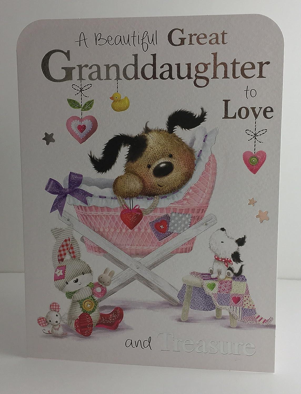 Jonny Javelin Beautiful Great Granddaughter To Love And Treasure Card