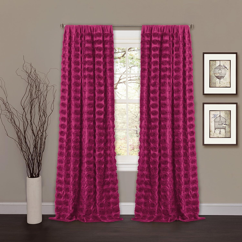 Lush Decor Emma Window Curtain, 50 by 84-Inch, Pink