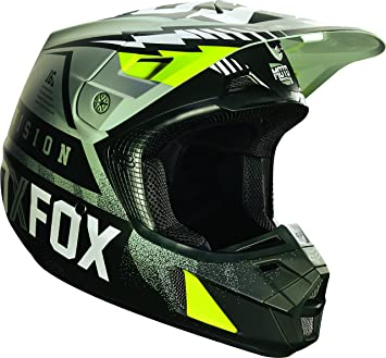 Fox Racing Vicious Mens V2 Motocross Motorcycle Helmet - Army / Medium