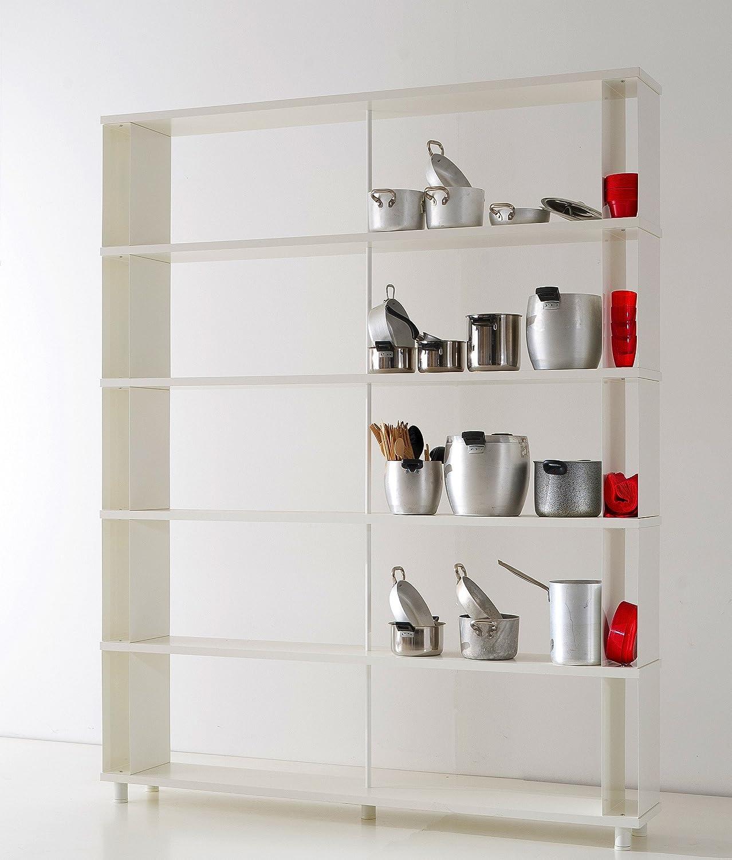 Bücherregale SKAFFA Italienische Design weisse Regale von cm. 150 x 211 h x 30