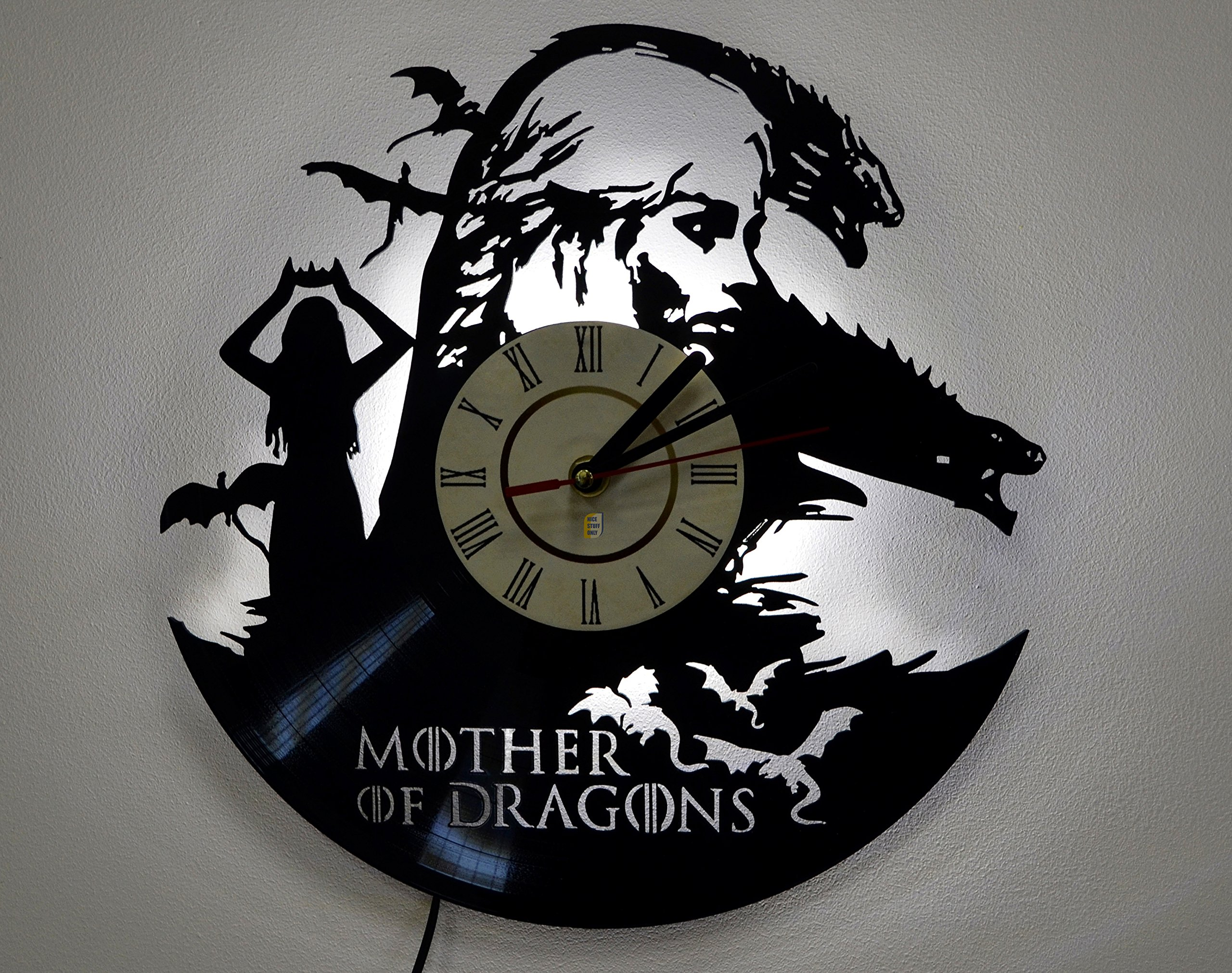 Game of Thrones Mother of Dragons Wall Lamp Shade, Night Light Function, Perfect Gift Idea