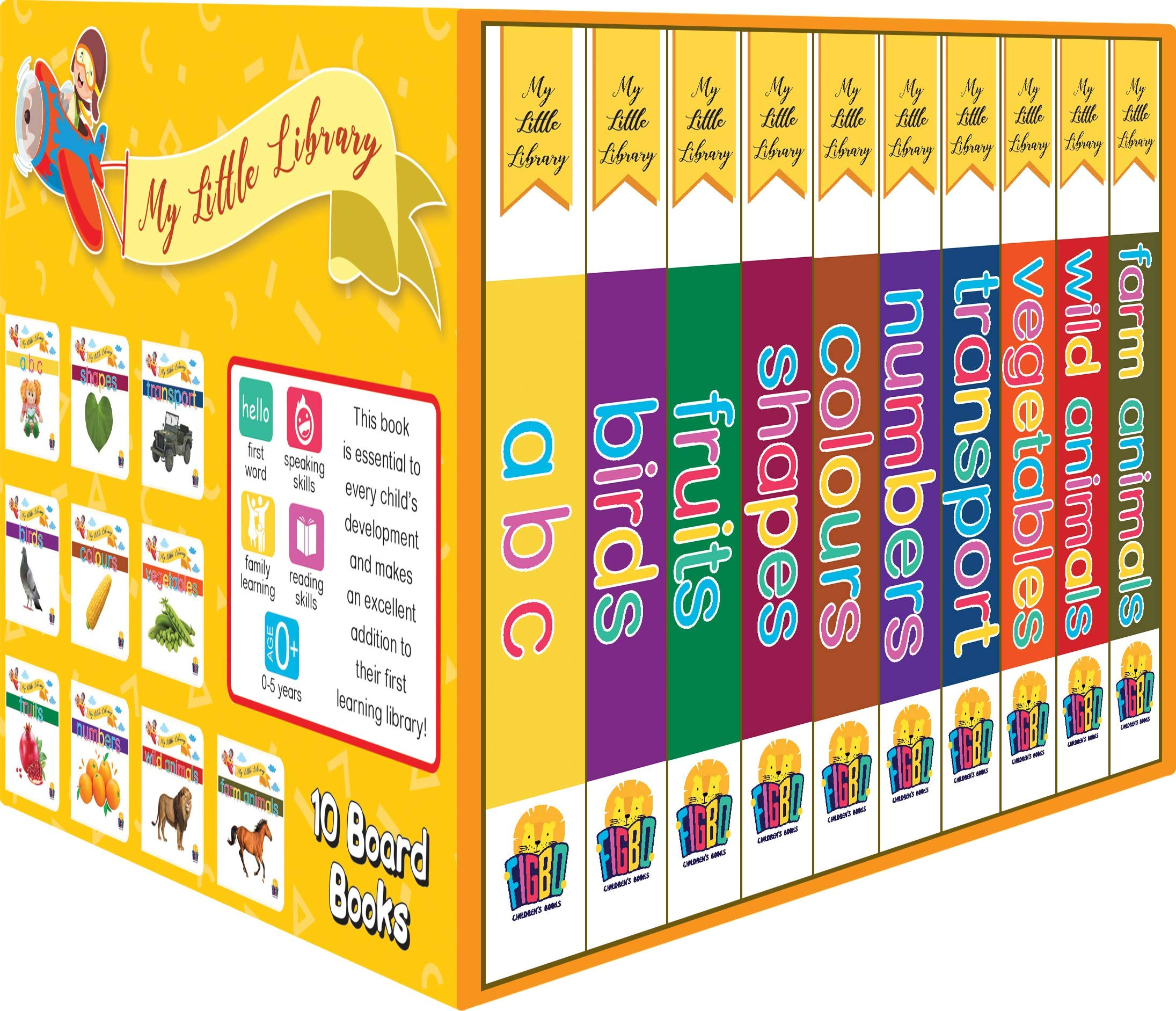 My Little Library (Set of 10 Books) Board book – 17 October 2020