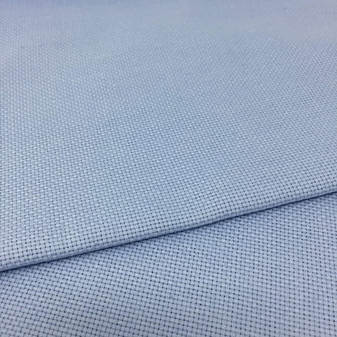 Tela para Punto de Cruz | 75cm x 50cm | 5,5 puntos/cm - 14 cuentas | 100% algodón | Elige color | de Delicatela (Azul Claro): Amazon.es: Hogar