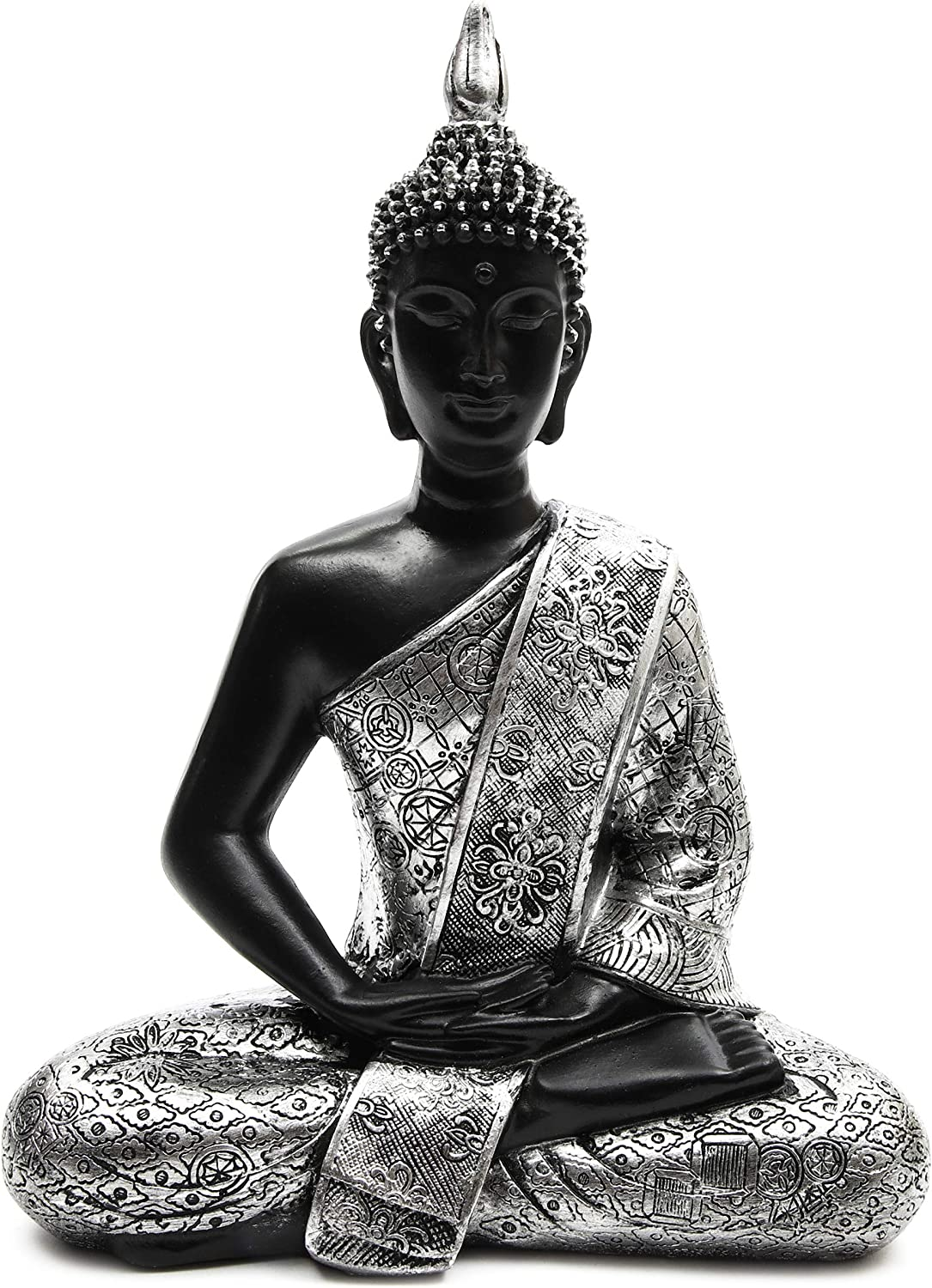 Juvale Decorative Seated Meditating Buddha Statue for Home and Garden (11 Inches)