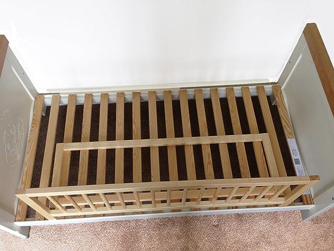 Safetots - Barrera protectora de cama, madera, color natural