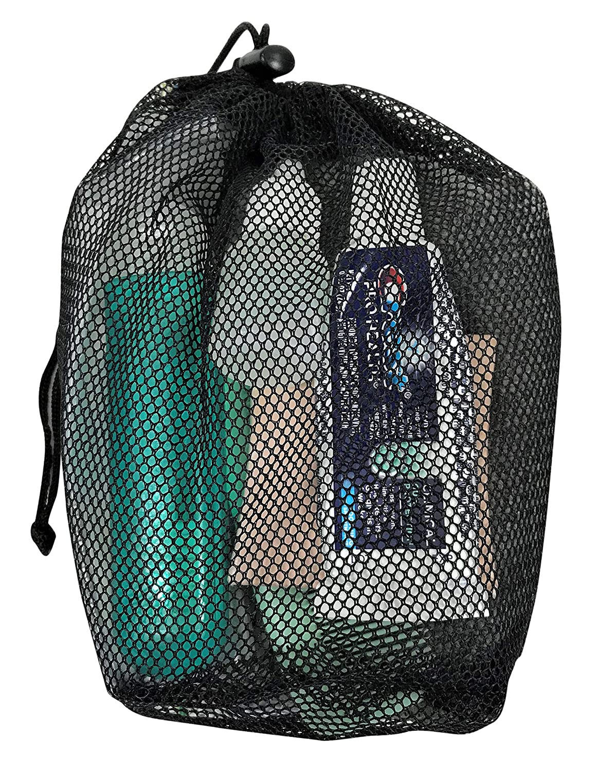 Ultralight 7 X 4 Ultralight Survival Kits Beach//Gym Gear or Organized Travelling Mesh Bag for Camp Cups//Cook Sets 7 X 4 DZ Outdoors See-Thru Ditty Bags Hiking//Camping Gear