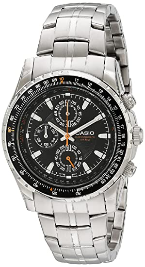 Casio Mens MTP4500D-1AV Slide Rule Bezel Aviator Stainless Steel Watch