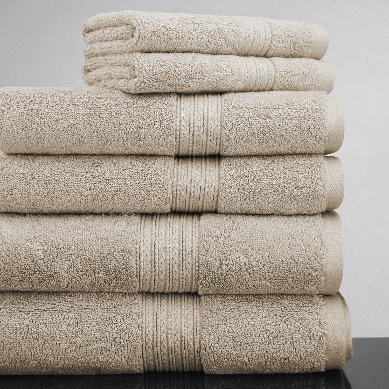 Luxor Linens New Arrival Bliss Collection Egyptian Cotton Classic 6-Piece Towel Set - Linen