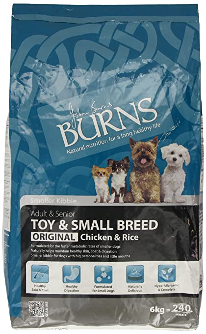 Burns Dog Food Pet Nutrition Adult Small/ Toy Breed 6kg