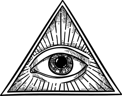 amazon com black and white all seeing eye of providence in simple