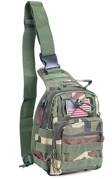 d6f18b0545e2 Boxuan warehouse Outdoor Tactical Shoulder Backpack(+flag patch), Military  & Sport Bag Pack Daypack for Camping, Hiking, Trekking, Rover ...