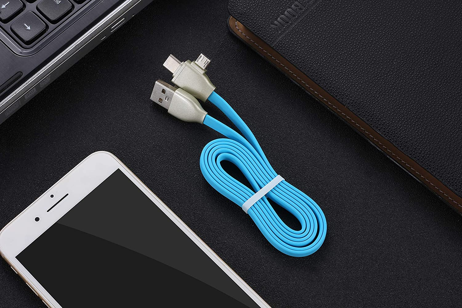 USB Cable 4FT 3in1 Charging Cable USB to MicroUSB//Type C 3 in 1