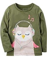 Carter's Girls' 2T-8 Owl Long Sleeve Tee