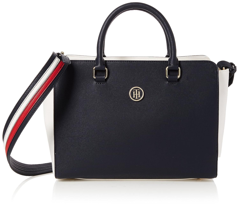 13dc397f Tommy Hilfiger Th Signature Strap Satchel Cb, Women's Bag, Blue (Core Cb),  13x23x32 cm (B x H T)