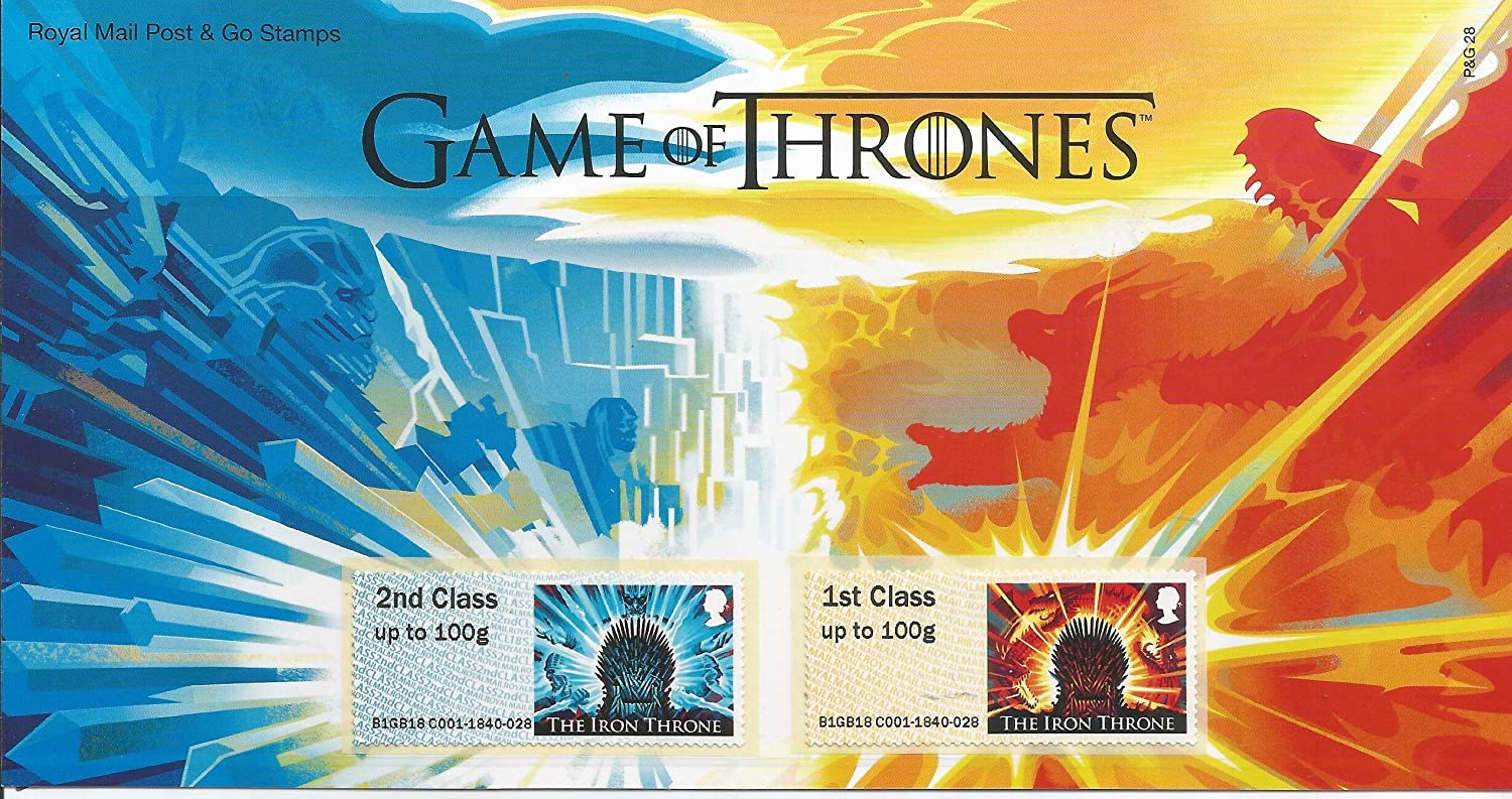 Royal Mail 2018 Spiel der Thrones Post & GO BRIEFMARKEN Pack
