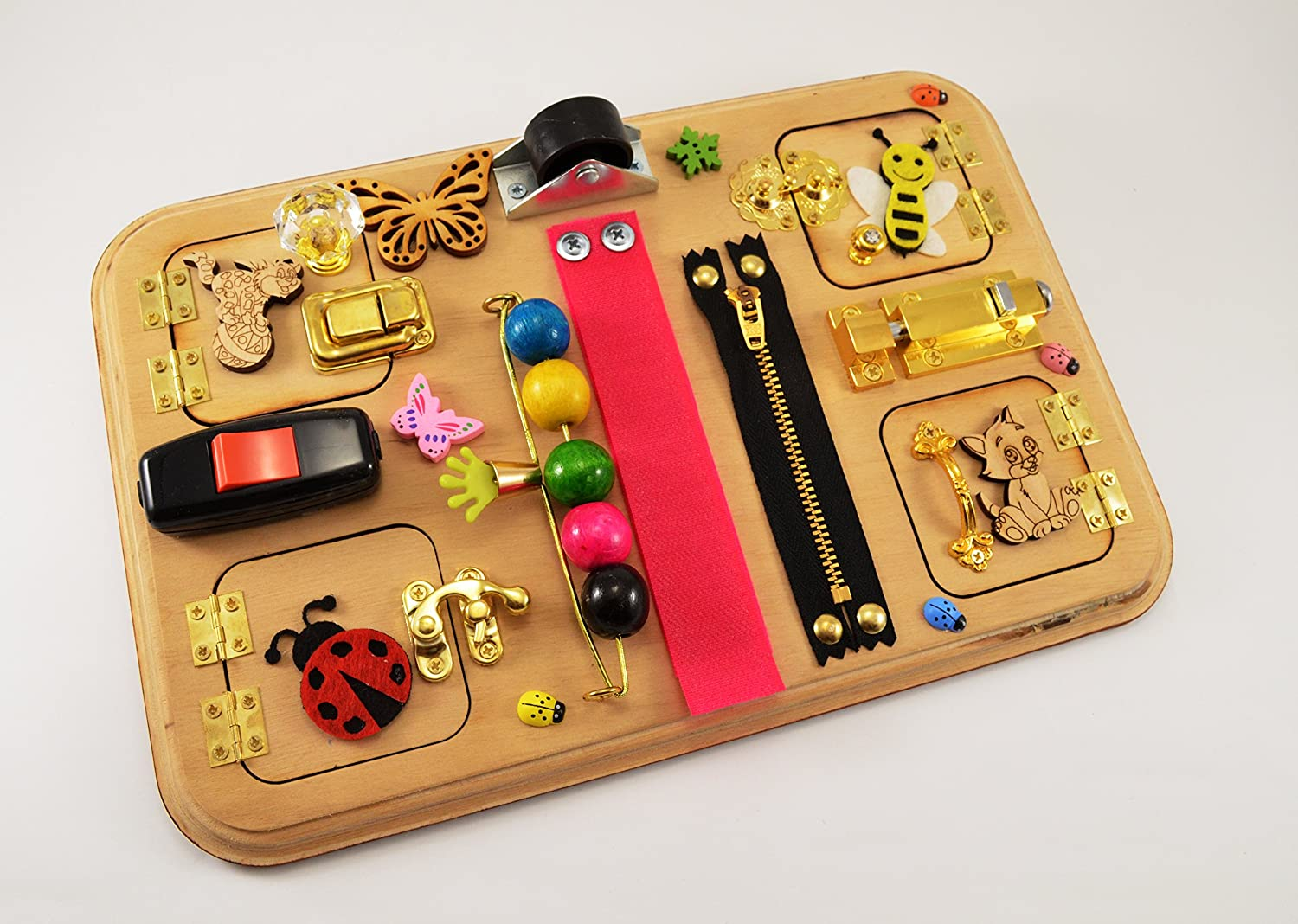 Busy board 2 year old Montessori toys Wooden toys for Toddlers Playroom idea Sensory board Activity board Handmade toys Wooden toys Eco Friendly