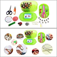 Kurtzy Multipurpose Tailoring Sewing Tool Kit Accessories Supplies (Threads Bobbins Needles Trimmers Buttons Hooks Scissors)