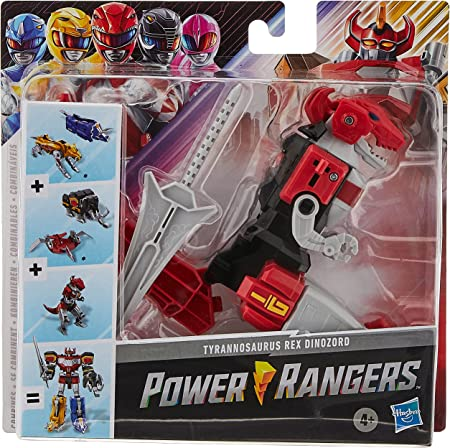 Power Rangers Mighty Morphin Tyrannosaurus Rex Dinozord Toy Red Ranger Zord Action Figure Part of Dino Megazord for Girls and Boys Ages 4 and Up