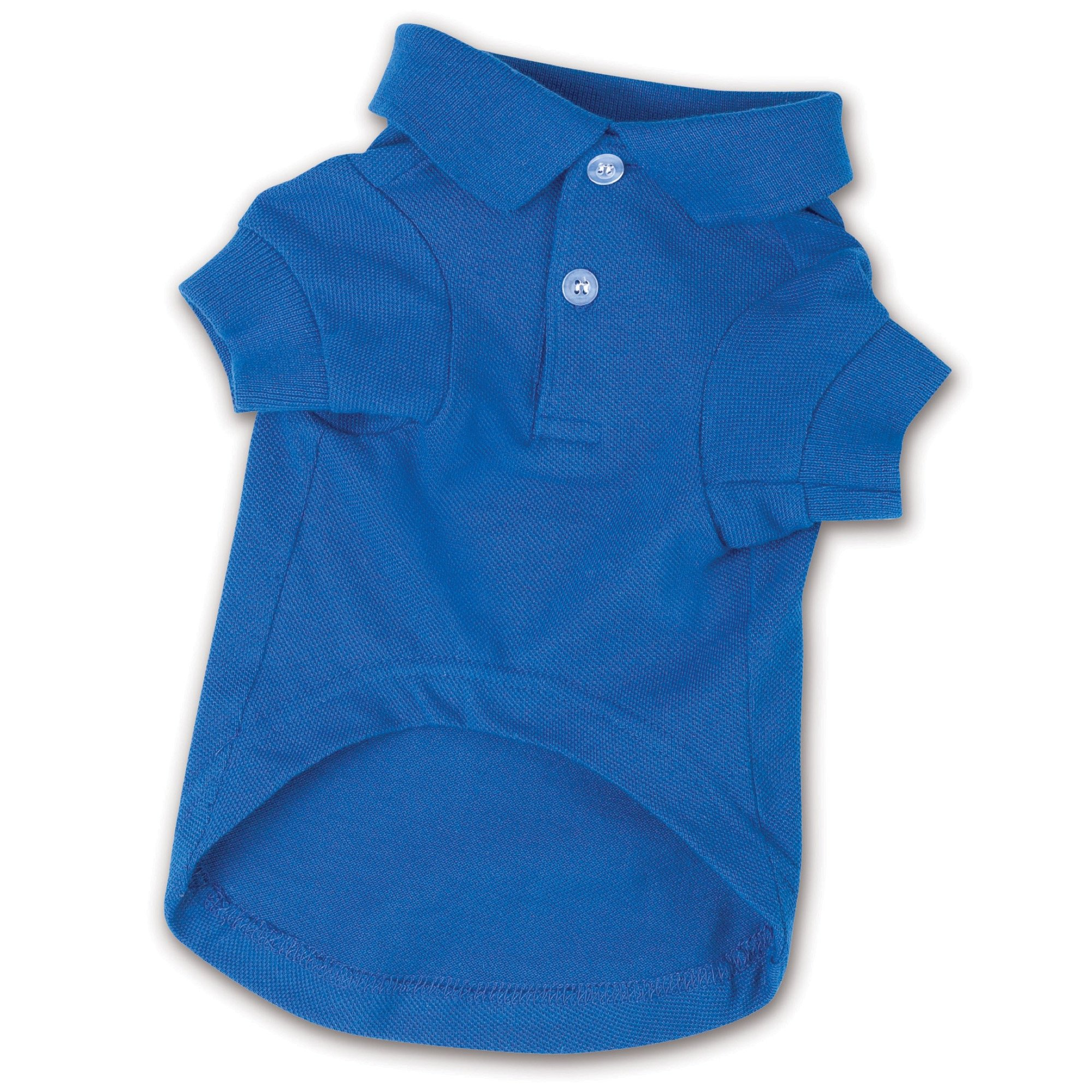 Zack & Zoey Cotton Polo Shirt for Dogs, 12'' Small, Nautical Blue