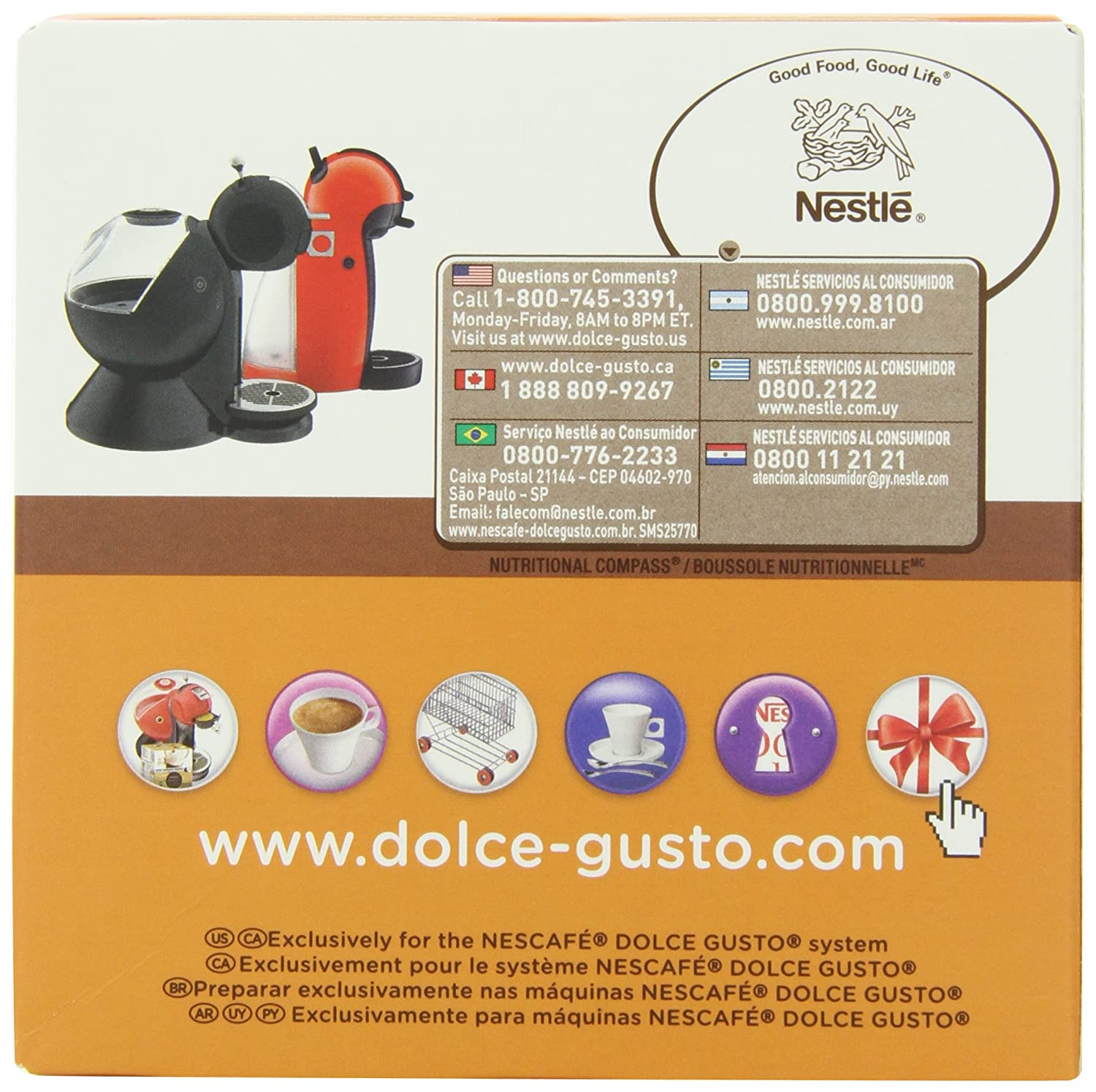 Amazon.com : NESCAFÉ Dolce Gusto Capsules - MEDIUM ROAST, 16 Pods : Grocery & Gourmet Food