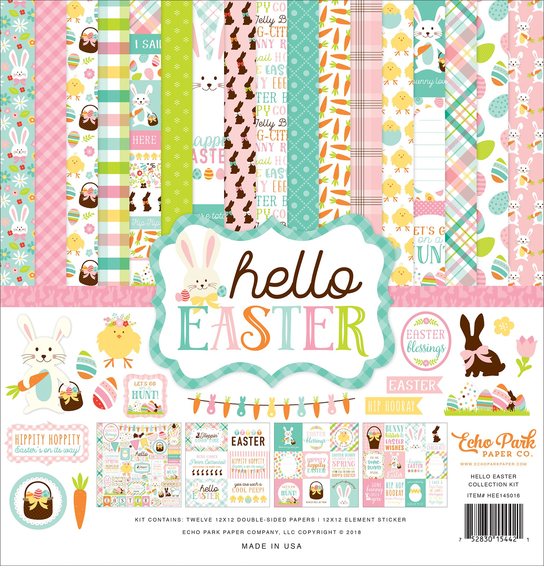 Echo Park Paper Company Hello Easter Collection Kit