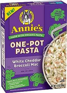 Annie's Homegrown Organic White Cheddar Broccoli Mac One-Pot Pasta, 204g