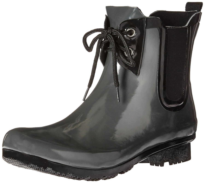 Roma Boots Women's Chelsea Lace-up Rain Boots B01L97DC9S 9 B(M) US|Kale Lace