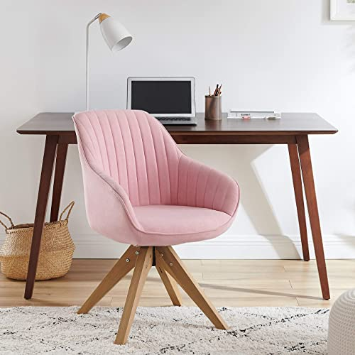 Art Leon Mid-Century Modern Swivel Accent Chair Pink