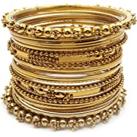YouBella Antique Look Jewellery Gold Plated Traditional Bracelet Bangles Set for Women