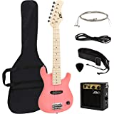 """30"""" Kids Pink Electric Guitar with Amp & Much More Guitar Combo Accessory Kit"""