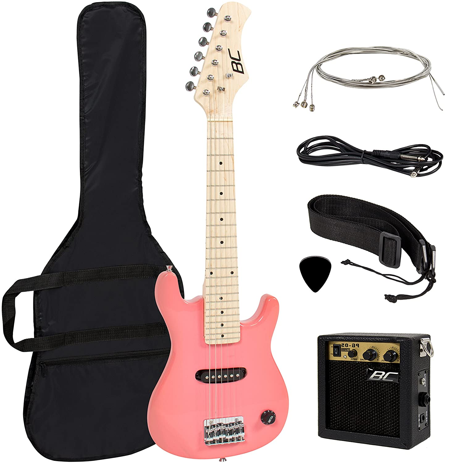 Amazon 30 Kids Pink Electric Guitar With Amp Much More Combo Accessory Kit Musical Instruments