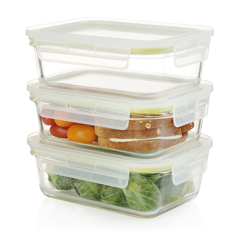 Komax horno rectangular apta para microondas y congelador seguro ...