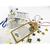(BOTH) Santa's Magic Key & Magical Reindeer Food Father Christmas Eve No Chimney Oats Dust Kids Activity Tradition Glitter Handmade Rudolph