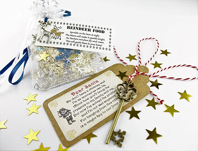 Food Open On Christmas Eve Near Me.Both Santa S Magic Key Magical Reindeer Food Father Christmas Eve No Chimney Oats Dust Kids Activity Tradition Glitter Handmade Rudolph
