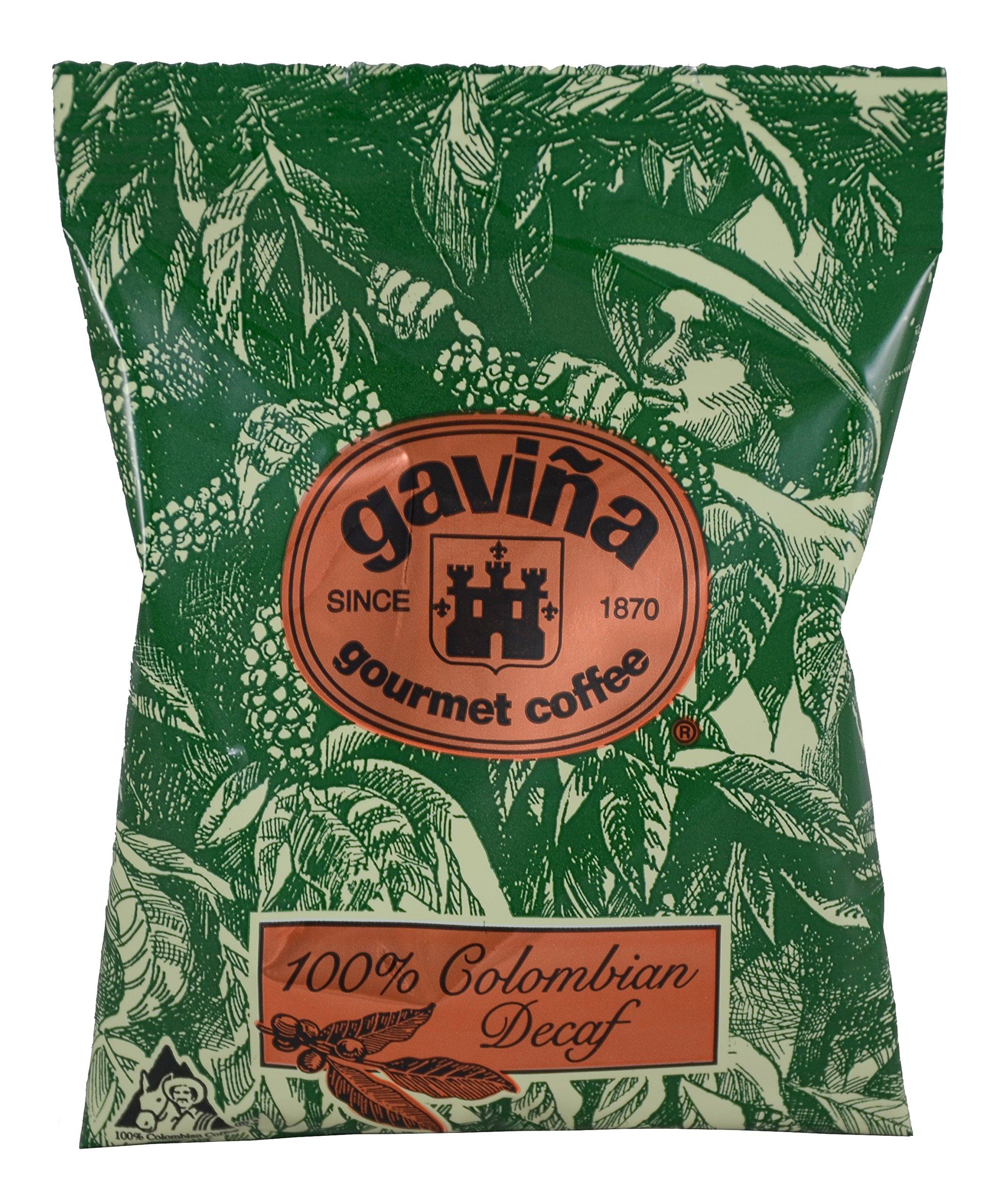 Gavina Decaf 100% Colombian Ground Pre-Portioned Packs 42x1.75 Oz #733 by Gaviña