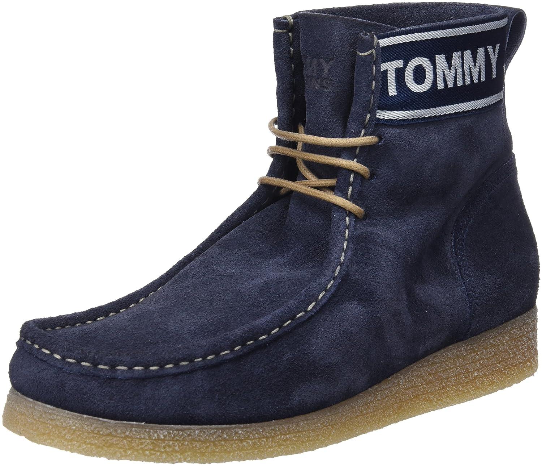 Hilfiger Denim Herren Crepe Outsole Suede Wallaby Desert Boots Blau (Ink 006)