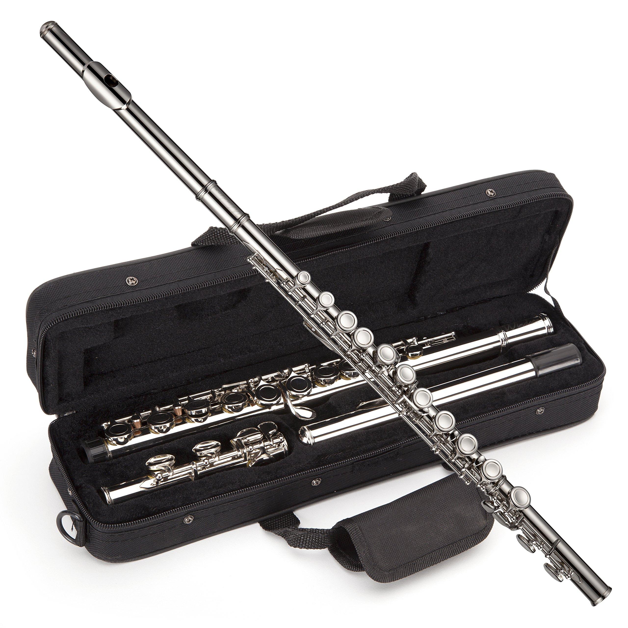 Windsor Student Nickel Plated Flute with Split E Key Includes Hard Case (MI-1002)